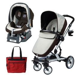 Peg Perego Skate Travel System, Java with Fashionable Diaper Bag