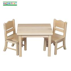 Guidecraft 98114 Doll Table and Chair Set, Natural