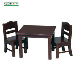 Guidecraft 98115 Doll Table and Chair Set, Espresso
