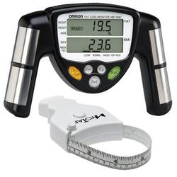 Omron HBF-306C BodyLogic Pro Hand Held Body Fat Monitor, Black with MT05 MyoTape Body Tape