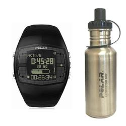 Polar 99039470 FA20 Mens Activity Computer Watch, Black with Stainless Steel Water Bottle