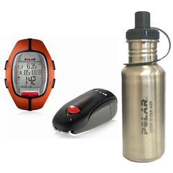 Polar 99039458 RS-300XSDOG Heart Rate Monitor With S1 Foot Pod, Orange with Stainless Steel Water Bottle