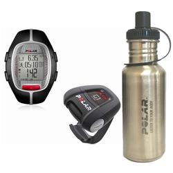 Polar 99039464 RS-300XG1BK Heart Rate Monitor With G1 GPS, Black with Stainless Steel Water Bottle