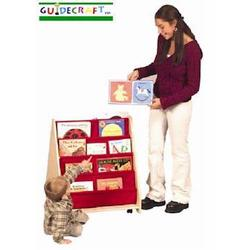 Guidecraft 6428 2-Sided Canvas Book Display