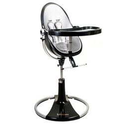 Bloom 10508BBLSL,Fresco Loft High Chair With Black Frame and Lunar Silver Seat Pad