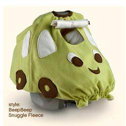 BabbaCo 11001 Babba Cover Snuggle Fleece, Beep Beep Green