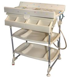 Baby Diego BB060-1 Baby Bath and Changing Table Sleek - Neutral