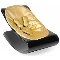 Bloom E10604-BSGL, Coco PlexiStyle Baby Lounger - Black Frame & Metallic Solar Gold Seat Pad