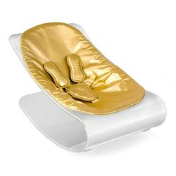 Bloom E10604-WSGL, Coco PlexiStyle Baby Lounger - White Frame & Metallic Solar Gold Seat Pad