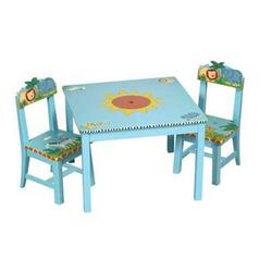 Guidecraft 83202 Safari Table & Chairs