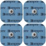 Compex Performance Electrodes Easy Snap Set(2 units), 2 in x 2 in Pack of 2 Sets