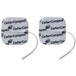 Compex 8820204 Electrode Set(4 units)  , 2 in x 2 in - Pack of 2 Sets
