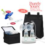 Ameda 17077KIT6, Purely Yours Breast Pump Combo# 6, with Carry All Bag, Free Omron Digital Thermometer, and Baby Medicine Dispenser
