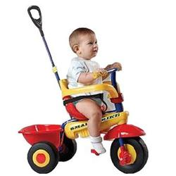 Smart Trike 1290100, Uno Baby to Toddler Tricycle -  Red, Yellow, Blue