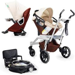 Orbit Baby Stroller Travel System G2 with Stroller Seat G2, Mocha/Khaki