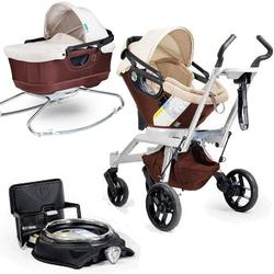 Orbit Baby Stroller Travel System G2 with Bassinet Cradle G2, Mocha/Khaki