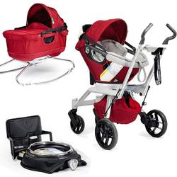 Orbit Baby Stroller Travel System G2 with Bassinet Cradle G2, Ruby/Slate