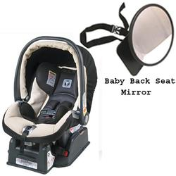 Peg Perego Primo Viaggio SIP 30/30 car seat, PALOMA with Back Seat Mirror