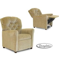 Dozydotes 7102 Leather-Like Classic 7 Button Childrens Recliner - Camel