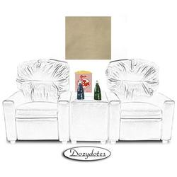 Dozydotes 10771 Leather Like Child Recliner Chair Theater Seating, Beige