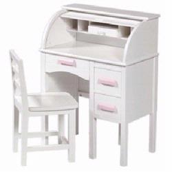 Guidecraft 97301 Jr Roll-Top Desk - White