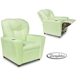 Dozydotes 10763 Minky Dot Cup Holder Recliner, Green Sherbet