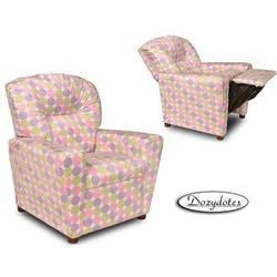 Dozydotes 10767 Minky Dot Contemporary Recliner, Lollipop