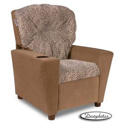 Dozydotes 10252 MicroSuede Children's Recliner with Cup Holder, Sweet Kitty