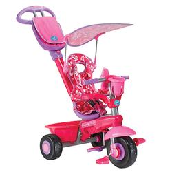 Smart Trike 1562211, Deluxe Baby to Toddler Tricycle - Pink Flowers