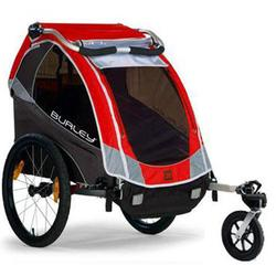 Burley 939205SKIT Solo Red Trailer with Stroller kit