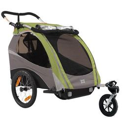 Burley 939205-GSKIT Solo Green Trailer with Stroller Kit