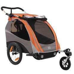 Burley 939205-OSKIT Solo Orange Trailer with Stroller Kit