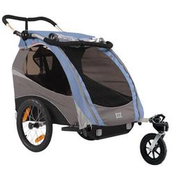 Burley 939205-BSKIT Solo Blue Trailer with Stroller Kit
