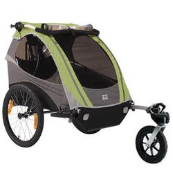 Burley 948205SKIT  D-Lite Green Trailer with Stroller Kit