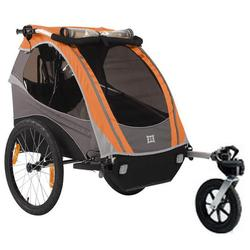 Burley 948206SKIT D-Lite Orange Trailer with Stroller Kit