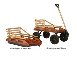 Mountain Boy Sledworks GH-0507-11 Grasshopper Convertible Sled/Wagon