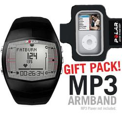 Polar 99039724 FT40 Heart Rate Monitor, Male Black with MP3 Armband