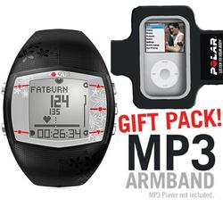 Polar 99039725 FT40 Heart Rate Monitor, Female Black with MP3 Armband