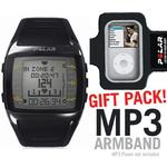 Polar 99039718 FT60 Heart Rate Monitor, Male Black with White Display with MP3 Armband