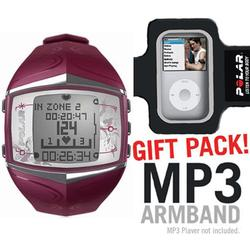 Polar 99039720 FT60 Heart Rate Monitor, Female Purple with MP3 Armband