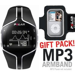 Polar 99039728 FT80 Heart Rate Monitor, Black with MP3 Armband
