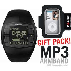 Polar 34539714 FA20 Men's Activity Computer Watch, Black with MP3 Armband