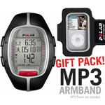 Polar 99039697 RS-300XBK Heart Rate Monitor, Black with MP3 Armband