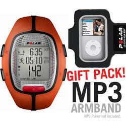 Polar 99039696 RS-300XOG Heart Rate Monitor, Orange with MP3 Armband