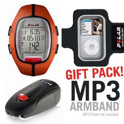 Polar 99039711 RS-300XSDOG Heart Rate Monitor With S1 Foot Pod For Running Enthusiasts, Orange with MP3 Armband