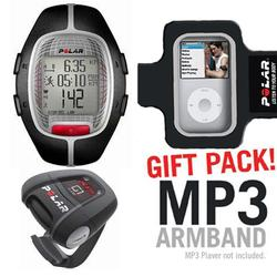 Polar 99039726 RS-300XG1BK Heart Rate Monitor With G1 GPS For Cross Sport Training, Black with MP3 A