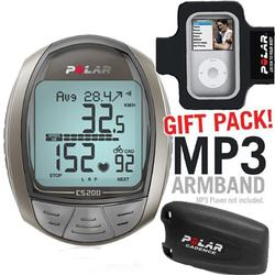 Polar 99039729 CS200CAD Cycling Computer with Cadence Sensor and MP3 Armband