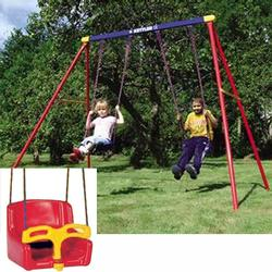 Kettler 8373 700b Deluxe Double Swing Set With Baby Seat Free
