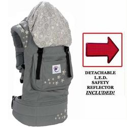 Ergo Baby BC2EP Galaxy Grey Baby Carrier with Galaxy Lining And LED Safety Reflector Light
