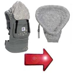 Ergo Baby BC2EP-KIT2 Galaxy Grey With Galaxy Infant Insert & LED Safety Reflector Light